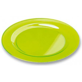 Prato Plastico Rigido Redondo Verde 19cm (10 Uds)