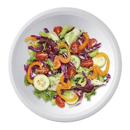 Prato de Plastico Fundo Branco Ø195mm (50 Uds)