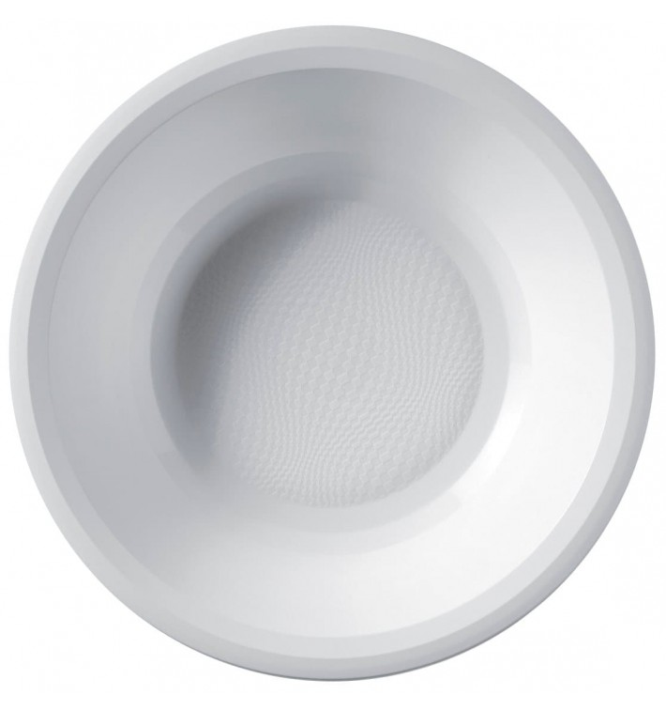 Prato de Plastico Fundo Branco Round PP Ø195mm (600 Uds)