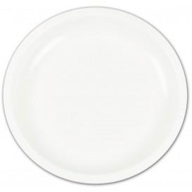 Prato de Plastico Branco Ø235mm (50 Uds)