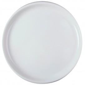 Prato de Plastico para Pizza Branco Ø350mm (12 Uds)
