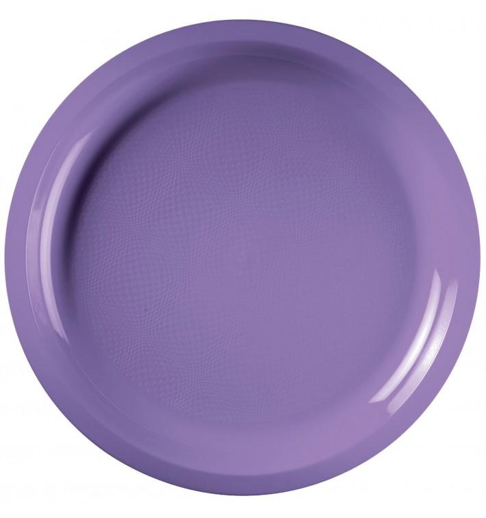 Prato de Plastico Lilás Round PP Ø290mm (25 Uds)