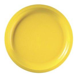 Prato de Plastico Amarelo Round PP Ø290mm (300 Uds)