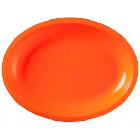 Bandeja de Plastico Oval Laranja Round PP 255x190mm (50 Uds)