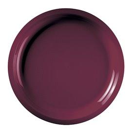 Prato de Plastico Bordeaux Round PP Ø290mm (25 Uds)