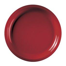 Prato de Plastico Vermelho Round PP Ø290mm (25 Uds)