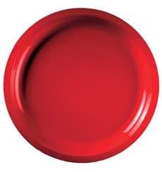 Prato de Plastico Vermelho Round PP Ø290mm (300 Uds)