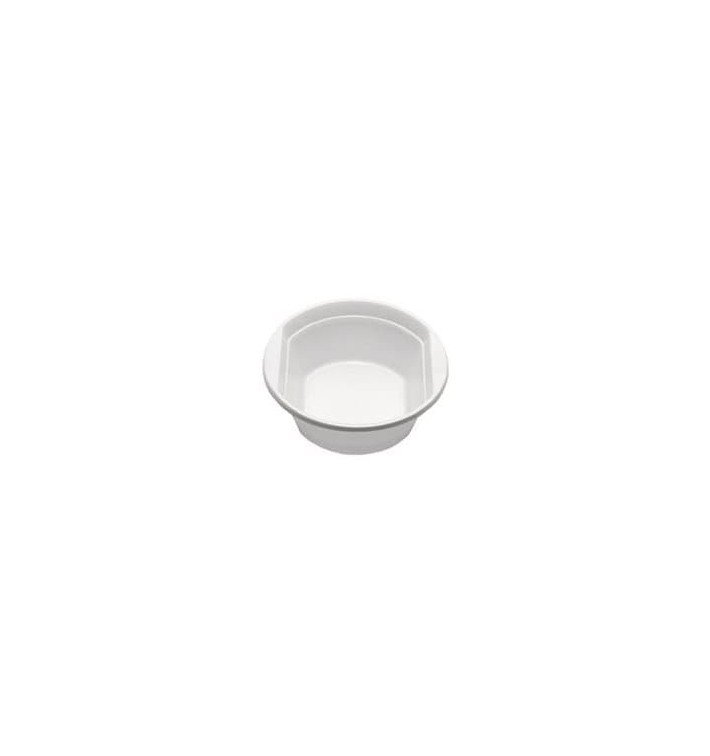 Tigela de Plastico PS Branco 300ml Ø11,9cm (100 Uds)