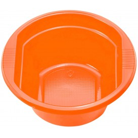 Tigela de Plastico PS laranja 250ml Ø12cm (30 Uds)