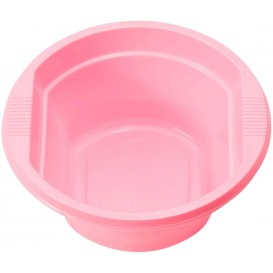 Tigela de Plastico PS Rosa 250ml Ø12cm (30 Uds)