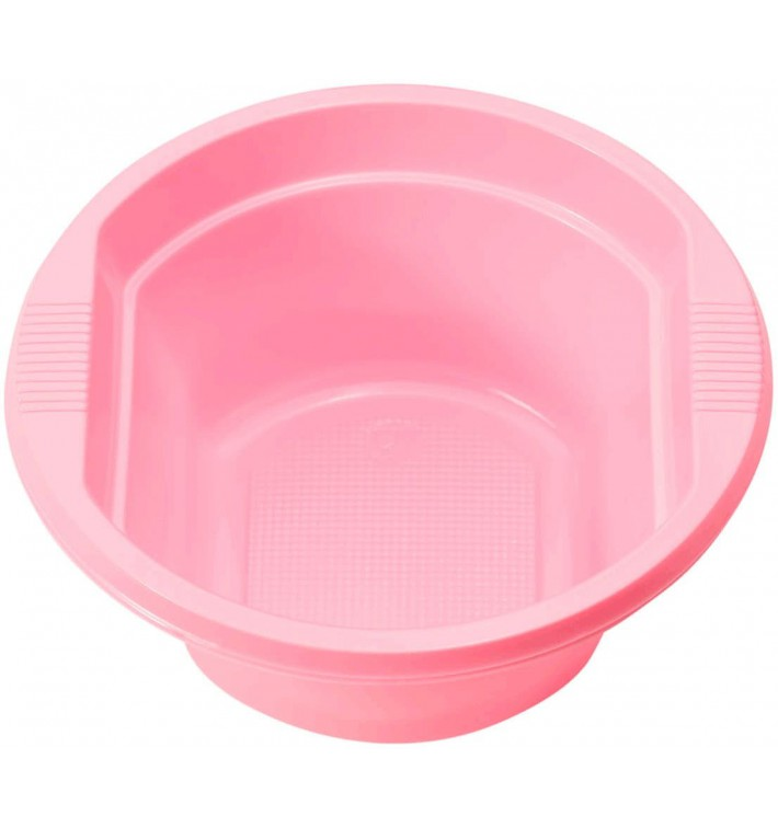 Tigela de Plastico PS Rosa 250ml Ø12cm (660 Uds)