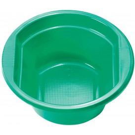Tigela de Plastico PS Verde 250ml Ø12cm (30 Uds)