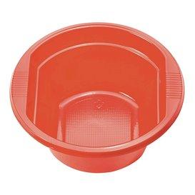 Tigela de Plastico PS Vermelho 250ml Ø12cm (30 Uds)