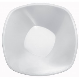 "Tigela Plastico PP ""Square"" Branco 3000ml Ø27,7cm (3 Uds)"