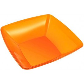 Tigela PS Cristal Duro Laranja 3500ml 28x28cm (20 Uds)