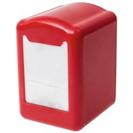 Dispensador Guardanapos Plastico Vermelho Miniservis 17x17 (12 Uds)