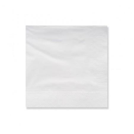 Guardanapos Papel Fl Dupla Branco 25x25cm (100 Uds)