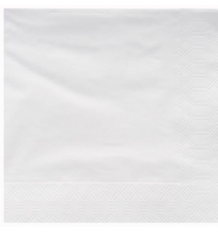 Guardanapos Papel Fl Dupla Branco 25x25cm (200 Uds)