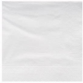 Guardanapos Papel Fl Dupla Branco 25x25cm (3400 Uds)