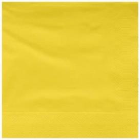 Guardanapos Papel Fl Dupla Amarelo 25x25cm (200 Uds)