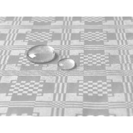 Toalha Papel Plastificado Rolo Prata 5x1,2m (10 Uds)