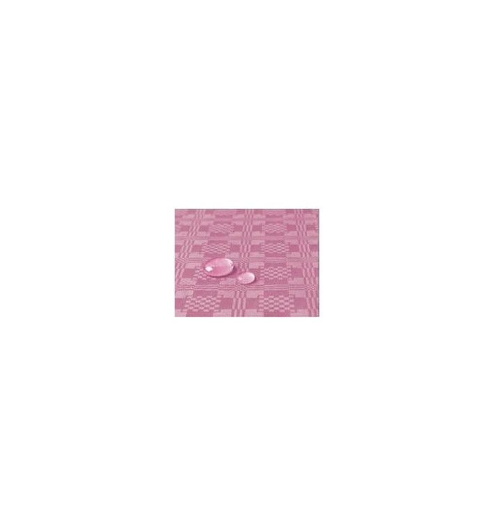 Toalha Papel Plastificado Rolo Rosa 5x1,2m (1 Ud)