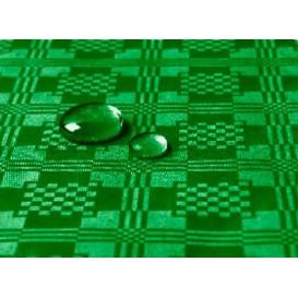 Toalha Papel Plastificado Rolo Verde Escuro 5x1,2m (10 Uds)