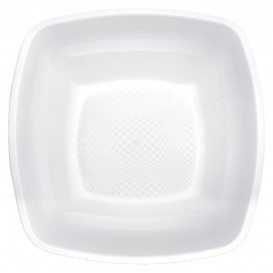 Prato Plastico Fundo Branco 180mm (25 Uds)