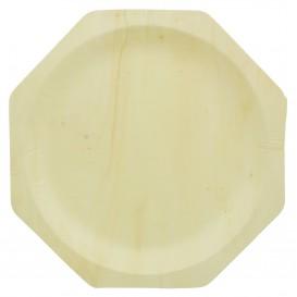 Prato de Madeira Octogonal 260mm (50 Unidades)