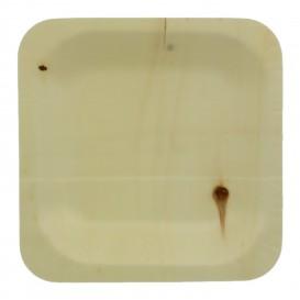 Prato de Madeira quadrado 11,5x11,5cm (50 Uds)