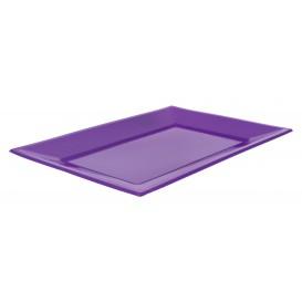 Bandeja Plastico Rectangular Lila 330x225mm (3 Uds)