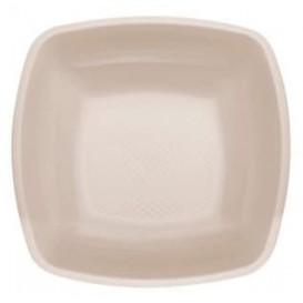 Prato Plastico Fundo Bege Square PP 180mm (150 Uds)