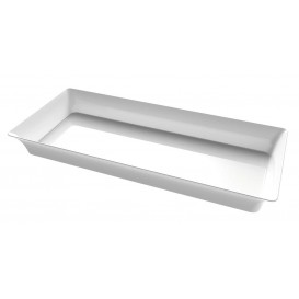 "Mini Bandeja Plastico Degustação ""Karo"" Trans. 5x13cm (24 Uds)"