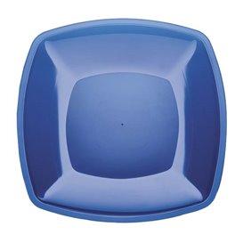 Prato Plastico Raso Azul Transp. Square PS 300mm (144 Uds)