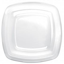 Tampa Plastico Transp. para Prato Square PET 180mm (150 Uds)
