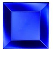 Prato Plastico Raso Azul PP 290mm (12 Uds)