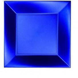 Prato Plastico Raso Azul Nice Pearl PP 290mm (72 Uds)