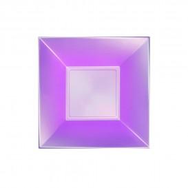 Prato Plastico Fundo Violeta Nice Pearl PP 180mm (25 Uds)