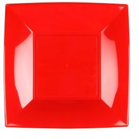 Prato Plastico Raso Vermelho Nice PP 290mm (12 Uds)