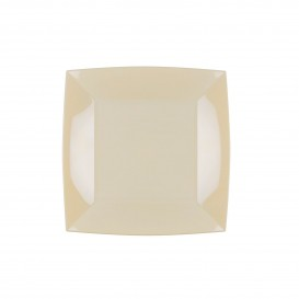Prato Plastico Raso Creme Nice PP 180mm (300 Uds)