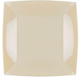 Prato Plastico Raso Creme Nice PP 290mm (72 Uds)