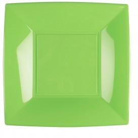 Prato Plastico Raso Verde Limão Nice PP 290mm (144 Uds)