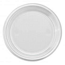 Prato Plastico PS Fundo Transparente Ø220mm (30 Unidades)