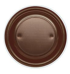 Prato Plastico PS Fundo Chocolate Ø220mm (600 Unidades)