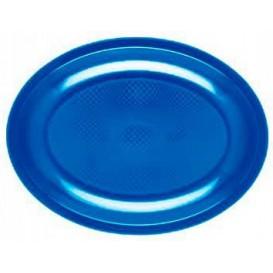 Bandeja de Plastico Oval Azul Mediterraneo Round PP 305mm (25 Uds)