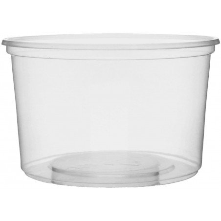 Embalagem Plastico Redondo Transp. 300ml Ø10,5cm (50 Uds)