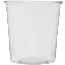 Embalagem Plastico Redondo Transp. 500ml Ø10,5cm (100 Uds)