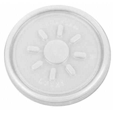 Tampa Planas de Plastico PS Termico Foam Ø7,4cm (100 Unidades)