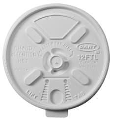 "Tampa de Plastico PS ""Lift n' Lock"" com Aba Branco Ø8,9cm (100 Uds)"