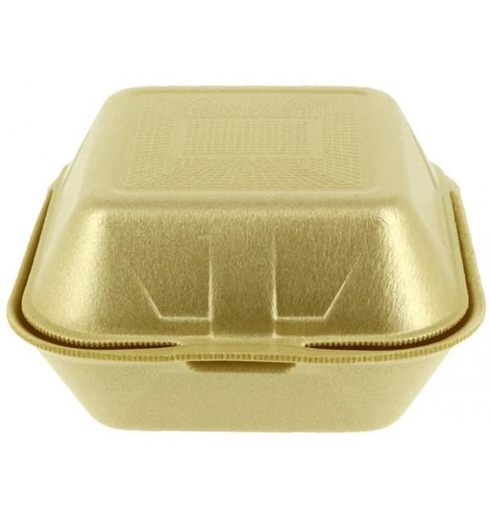 Embalagem Foam Hamburguer Grande Ouro (125 Uds)
